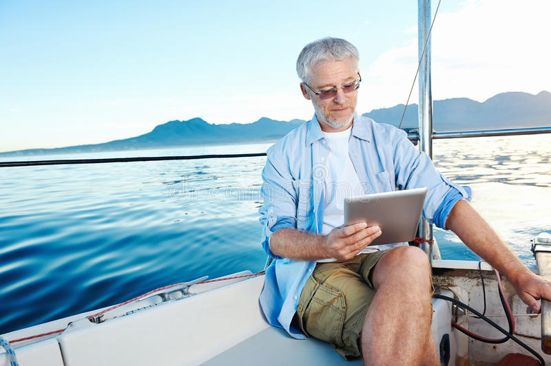 Download Sailing man portrait stock photo. Image of casual, ocean - 31576904
