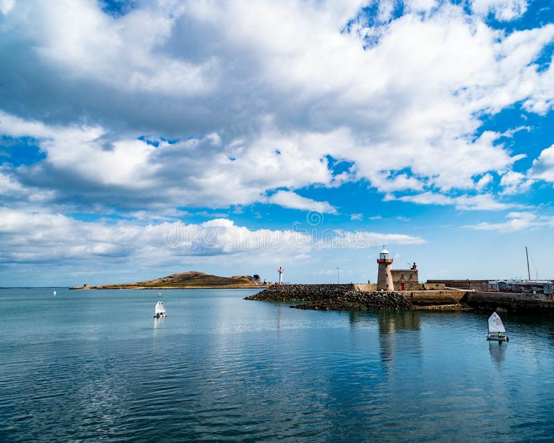Sailboats in Howth Harbor royalty free stock images