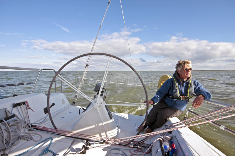 Sailing In The Netherlands Royalty Free Stock Photo
