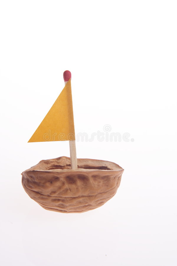 Sailing nutshell stock images
