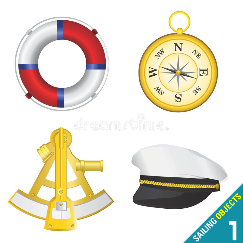 Sailing objects 1 royalty free illustration