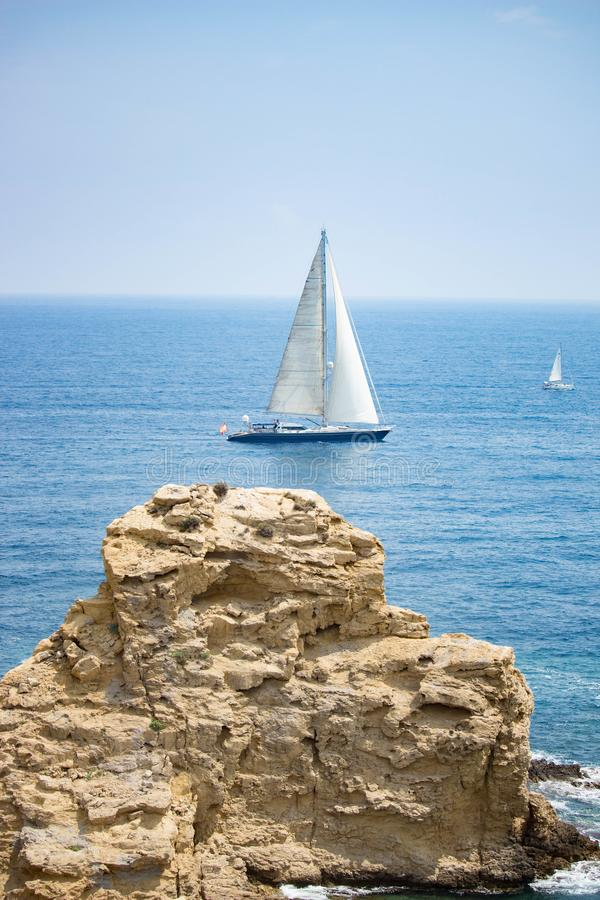 Sailing out. royalty free stock image