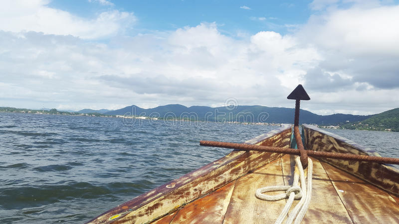 Sailing over the sea royalty free stock images