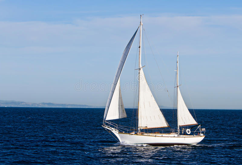 Sailing In The Pacific Off The Coast Of California Royalty Free Stock Image