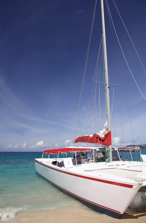 Sailing in paradise royalty free stock photos