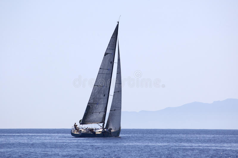 Sailing race stock photography
