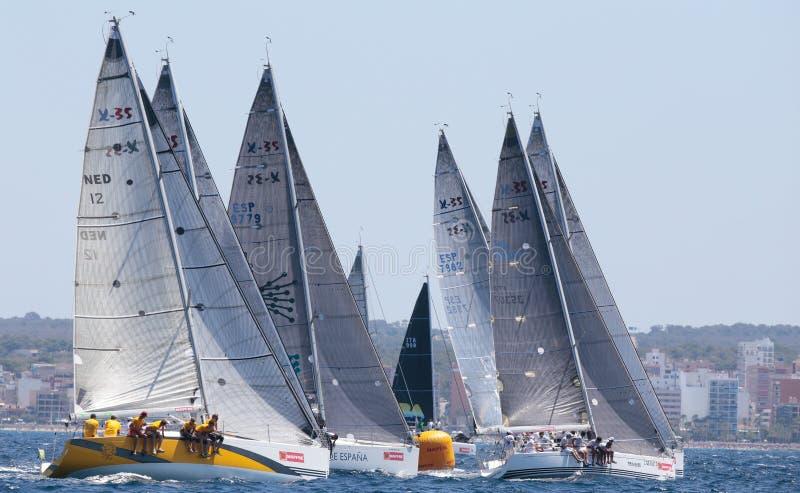 Sailing race regatta 012 stock photography