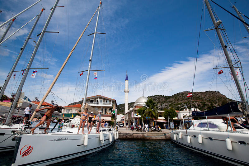 Download Sailing Regatta In The Mediterranean Sea Editorial Image - Image: 26432595