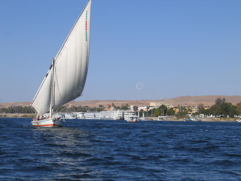 Download Sailing on the river Nile stock image. Image of exploration - 27883665
