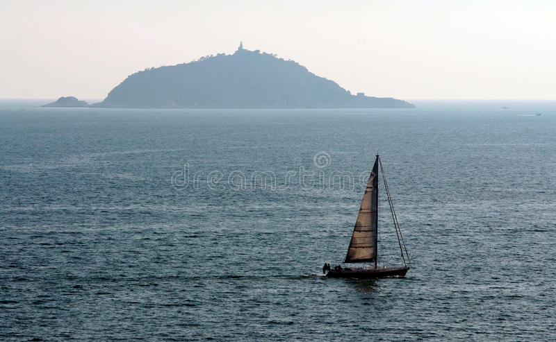 Download Sailing in Riviera stock photo. Image of island, sail - 26831406