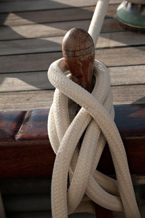 Sailing rope royalty free stock photo