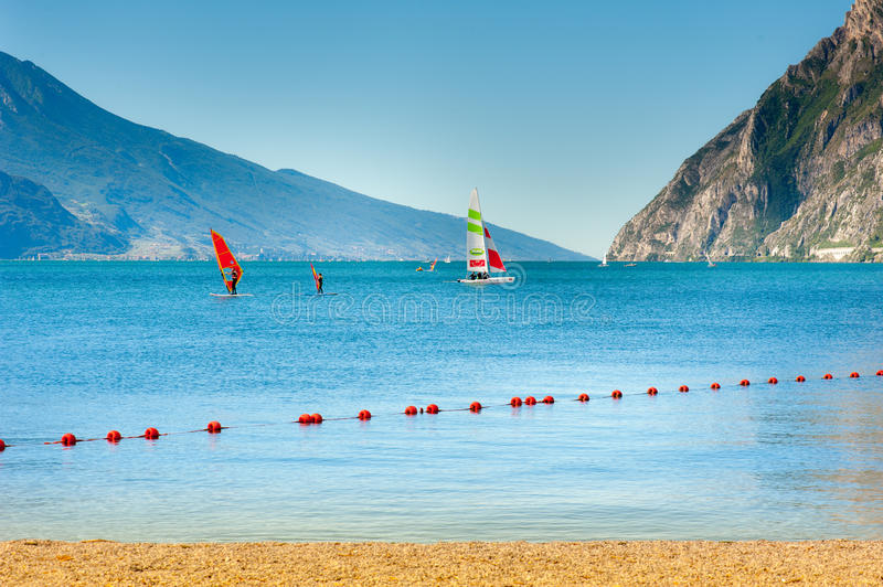 Sailing school royalty free stock photography