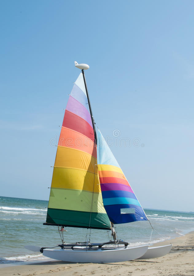 Sailing on the sea stock photos