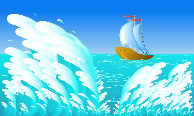 Download Sailing ship stock vector. Illustration of illustration - 8000081