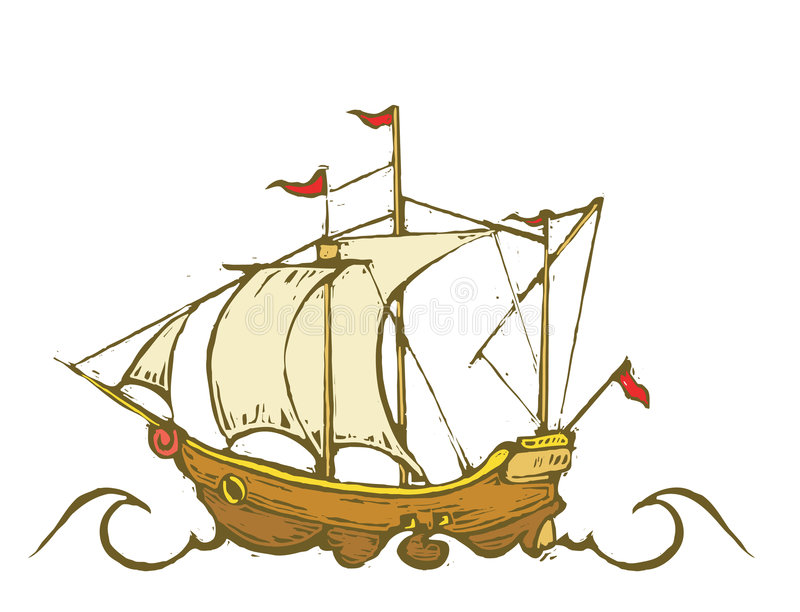 Download Sailing Ship stock vector. Illustration of wave, rigging - 8631315