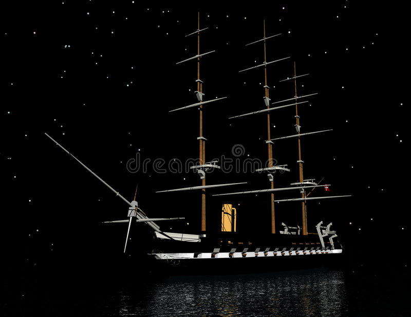 Download Sailing ship stock illustration. Illustration of surrealism - 9105515