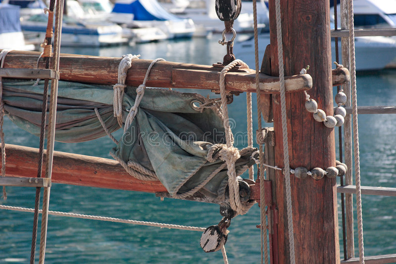 Sailing ship detail stock photos