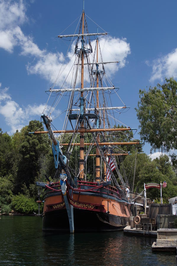 Sailing Ship at Disneyland royalty free stock photos