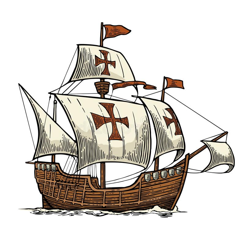 Nina Pinta Santa Maria C Stock Vektor Art und mehr Bilder von Christoph  Kolumbus - Entdecker - iStock