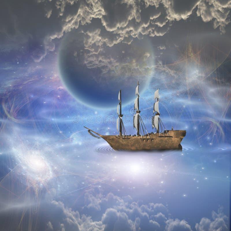 Fantasy Art Stealth Sailing Ship