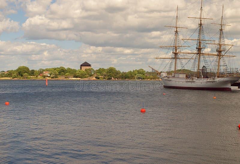 Sailing ship from Karlskrona. royalty free stock images