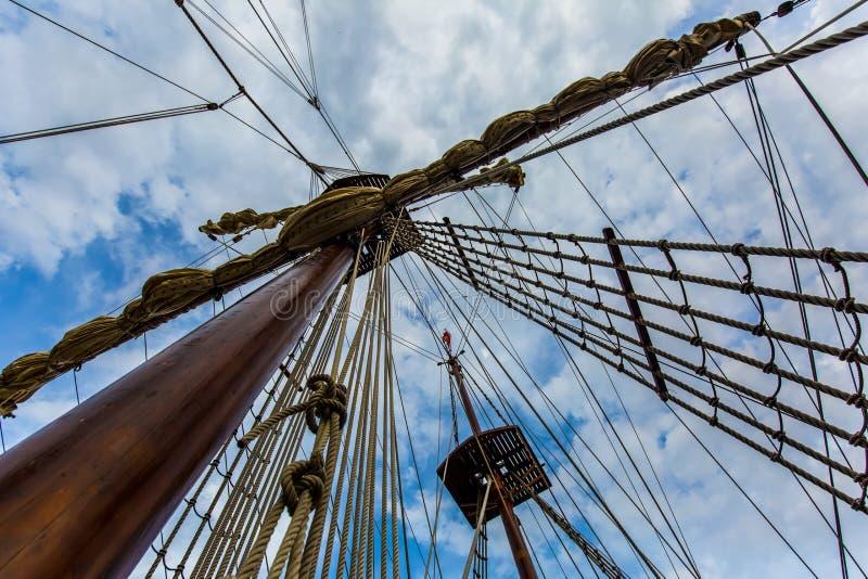 Sailing Ship Mast stock photos