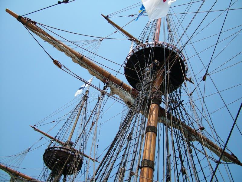 Sailing Ship Masts royalty free stock photos