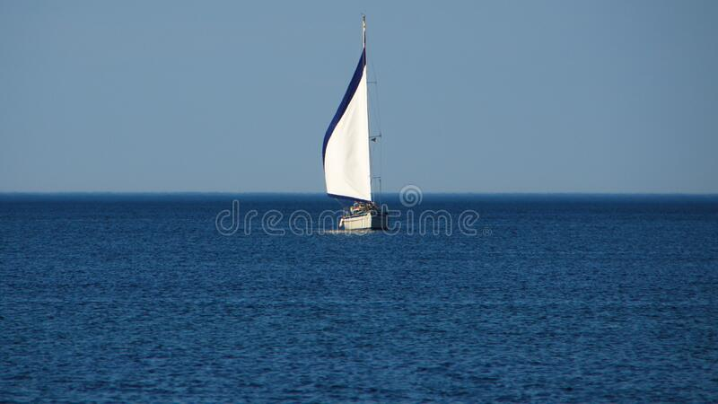 Sailing Ship in the Ocean stock images