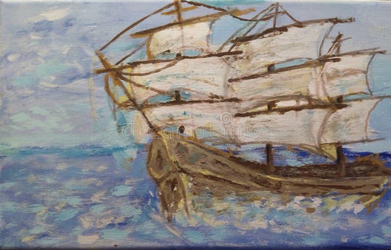 Sailing Ship painting royalty free stock photos