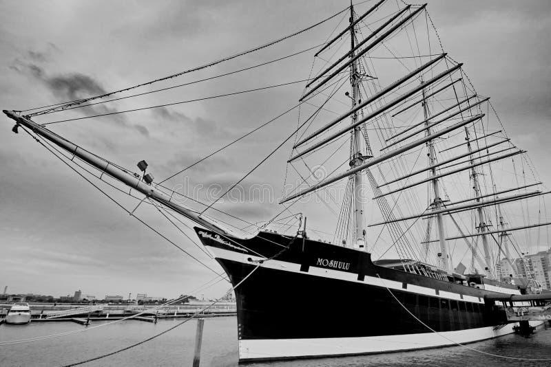 Sailing Ship, Tall Ship, Ship, Black And White royalty free stock photos