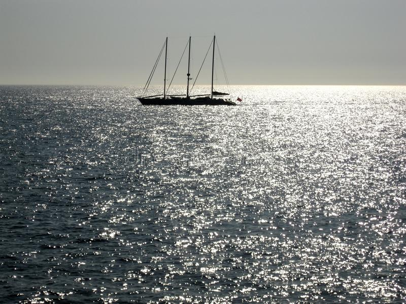 Download Sailing in silver sea stock photo. Image of season, beauty - 10960636