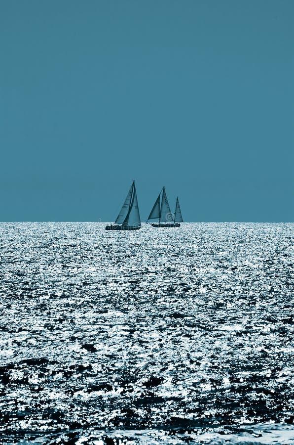 Sailing On Sparkling Seas Royalty Free Stock Photo