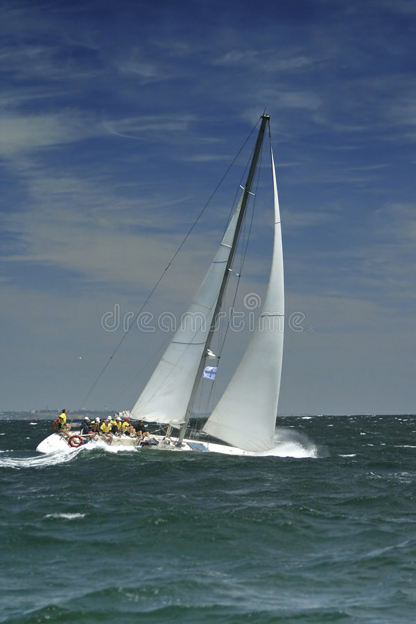 Free Sailing Sport. Storm Royalty Free Stock Photo - 1312525