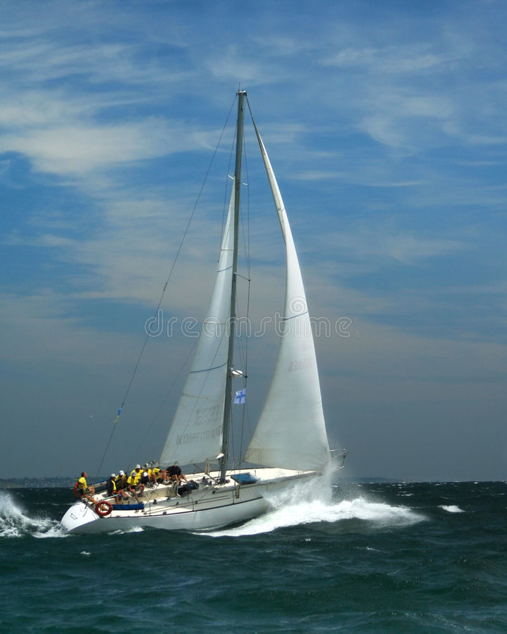 Sailing Sports for the present men stock image