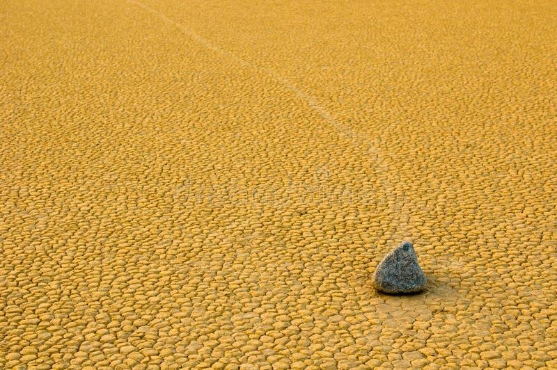 Sailing stones, Death Valley, California stock photos
