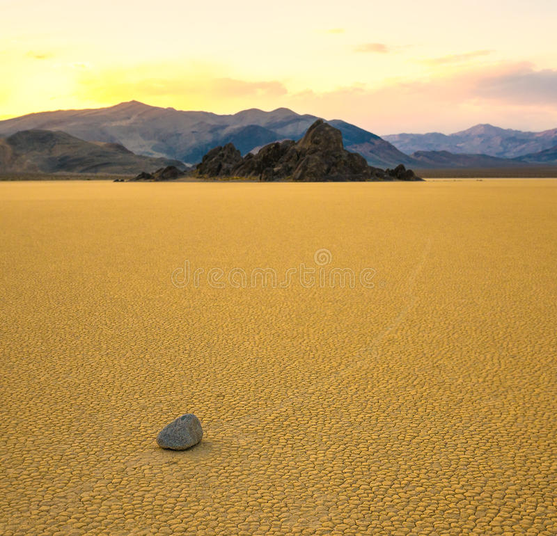 Download Sailing Stones In The Racetrack, Death Valley Stock Photo - Image: 27966082