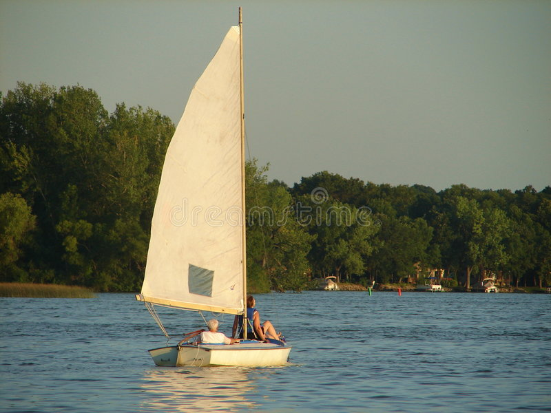 Sailing at Sunset royalty free stock image
