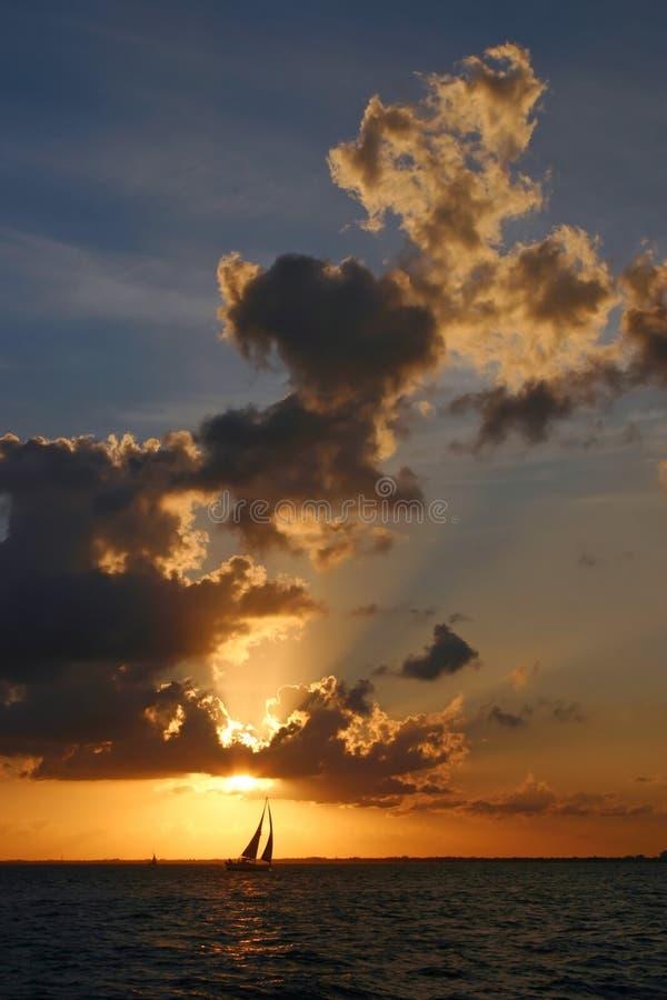 Sailing at Sunset stock photography