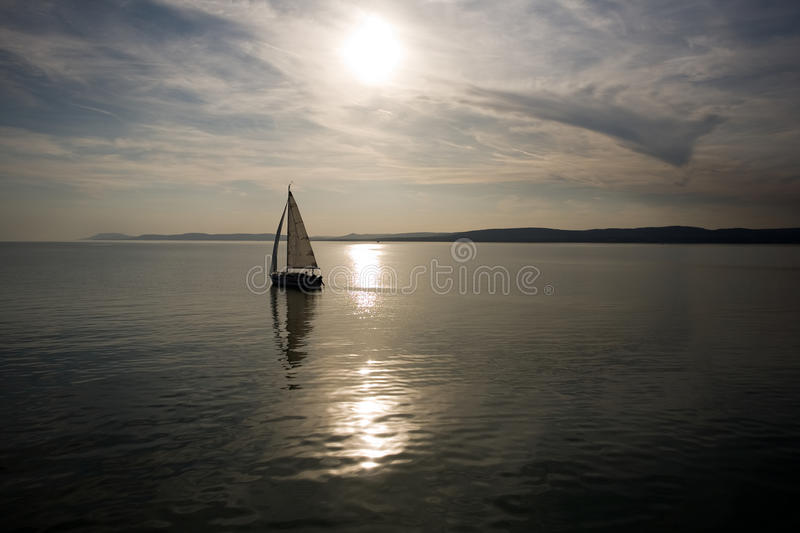 Sailing into the sunset. royalty free stock photography