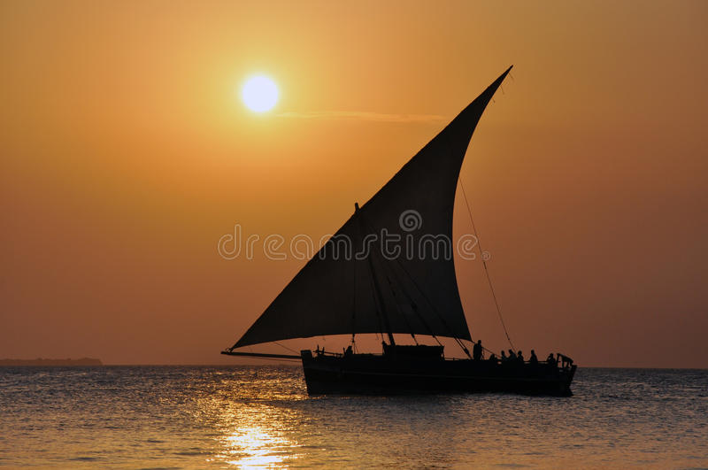 Download Sailing in the sunset stock photo. Image of sunset, africa - 23201476