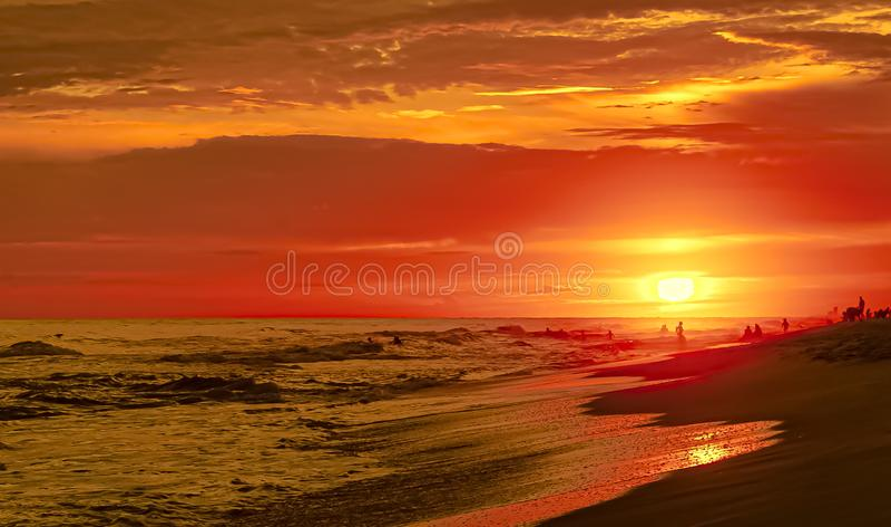 SAILING AT SUNSET TROPICAL ISLAND royalty free stock photo