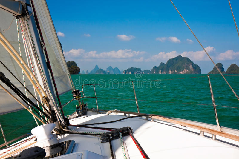 Sailing in Thailand stock image