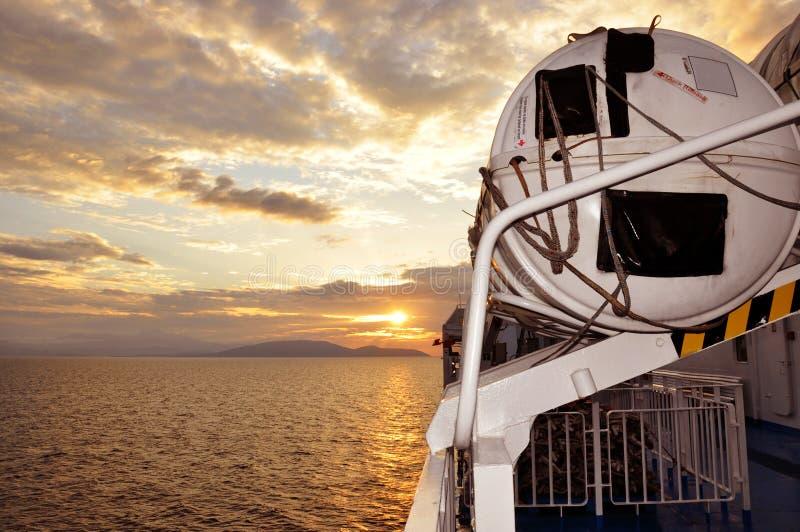 Sailing Towards the Sunrise stock image