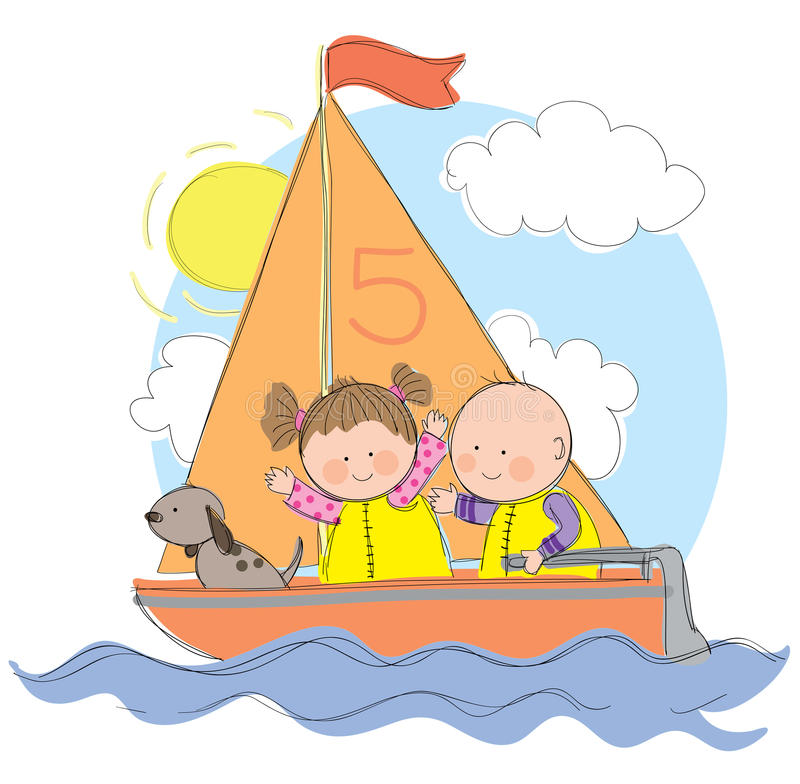 Download Sailing Trip stock vector. Image of color, family, activity - 29265025