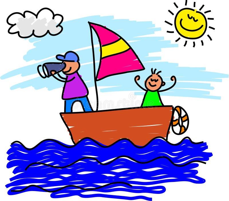 Sailing trip stock illustration