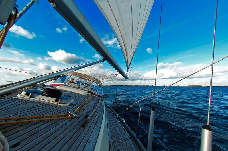 Download Sailing Under Blue Sky Royalty Free Stock Photography - Image: 1705397