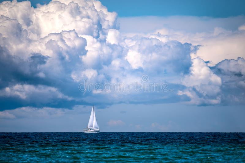 Sailing Under The Clouds stock photos