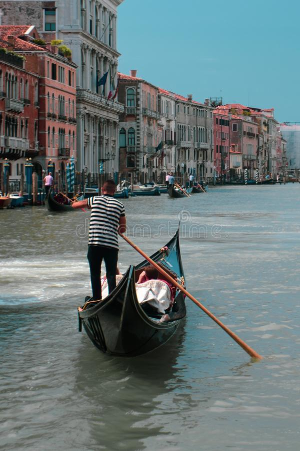 Sailing in Venice royalty free stock photo