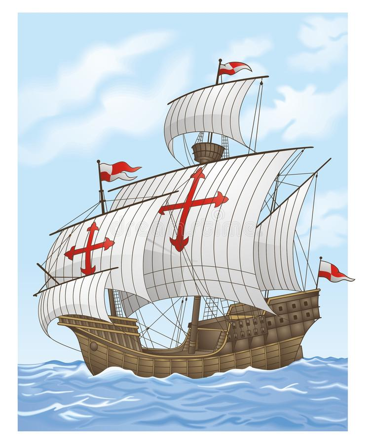 Sailing vessel vector illustration