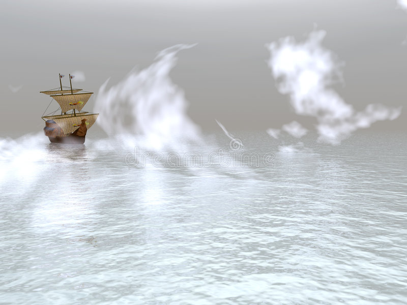 Sailing vessel royalty free illustration